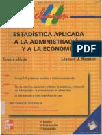 Estadistica Aplicada a La Administracion y La Economia Leonard J Kazmier