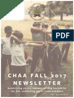 CHAA 2017 Fall Newsletter