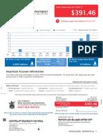 13930 Penrod Water Bill. Due Oct. 6