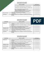 Rúbricas de Evaluación
