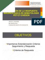 Evaluacion Respuesta Imaginologica Hematologia PET TAC Cheson