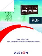 ALSTOM IDMT Overcurrent and E_F Cdg61