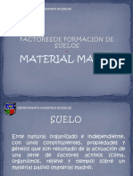 Factores de Formacion de Suelos - Material Madre2017