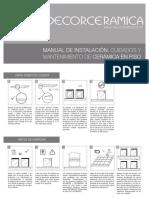 Manual de Instalación Cuidados y Mantenimiento de Cerámica en Piso