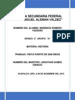 Trabajo de Historia de El Fuerte de San Diego