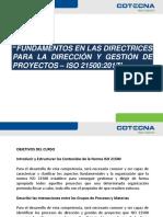 Curso Fundamentos ISO 21500