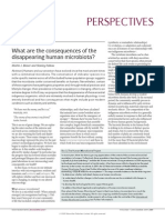 Disappearing Human Microbiota