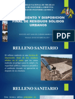 Tratamiento y Disposicion Final de Rrss Urbanos
