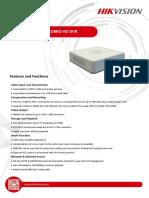 Hikvision DS 7104HGHI F1 Datasheet