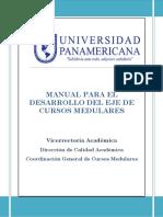 MANUAL PARA EL DESARROLLO DEL EJE DE CURSOS MEDULARES