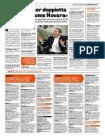 La Gazzetta dello Sport 08-11-2017 - Intervista Tesser