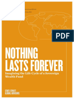 Nothing Lasts Forever Imagining the Life Cycle of a Sovereign Wealth Fund