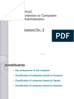 Lectute2_Major Components and Classification