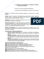 Temario Unidad I - Sistema de Manufactura