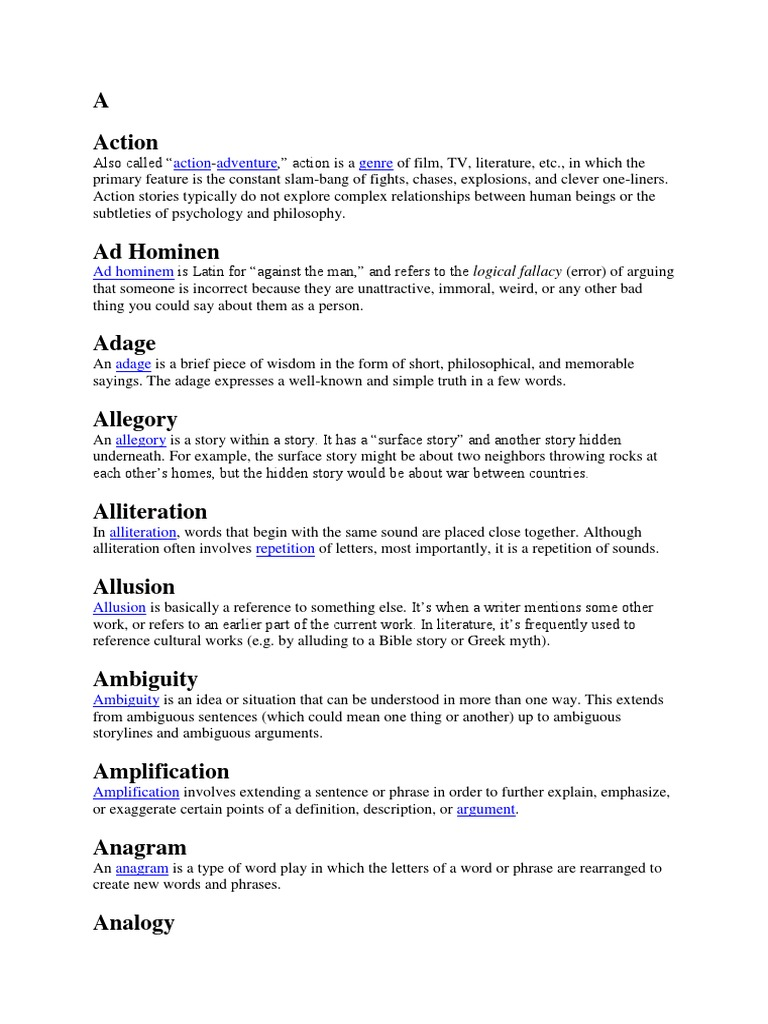 Glossary Of Literary Terms Poetry Fairies