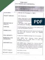 Term Loan Term Sheet