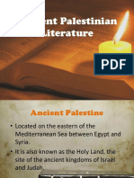 1 Ancient Palestinian Literature 1
