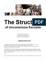 Michael Hall - The Structure of Unconscious Excuses