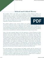 Frankfurt School and Critical Theory _ Internet Encyclopedia of Philosophy