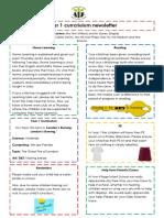 Curriculum Newsletter (Year 1 Autumn 2 - 2017)