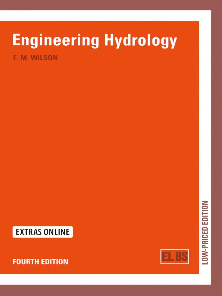 Engineering Hydrology 4e By Wilson Hydrology Rain