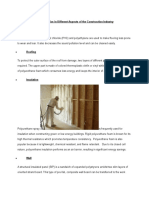 Use of Plastics in Different Aspects of the Construction Industry.doc