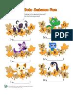 Pet Pad Autumn Fun