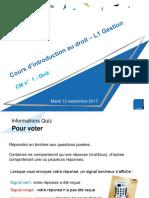 Intro au droit - CM1 - Evaluation formative.ppt