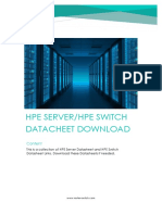 HPE Server and Switch Datasheet Documents