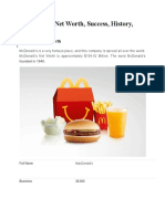 McDonald's Net Worth, Success, History, Business