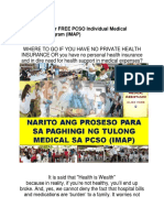 How to Apply for FREE PCSO Individual Medical Assistance Program (IMAP)