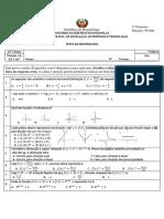 Teste 12 ª Classe Com Correção - Imprimir