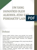 Delirium Yang Diinduksi Oleh Alkohol Atau Zat Psikoaktif