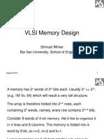 VLSI Memory Design