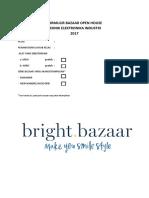 Formulir Bazaar Open House