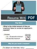 Resume Writing Powerpoint