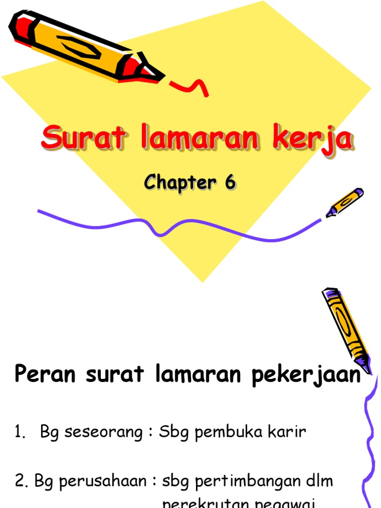 Chapter 6 Surat Lamaran Kerja