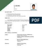 Ojt Resume ( Sample