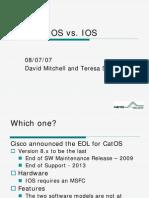 CatOS vs IOS