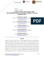 New Classification and Colour Code Development for an Efficient Medical Waste Segregation