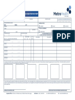 Metro health application form