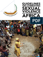 ACHPR Guidelines on Combating Sexual Violence and Its Consequences