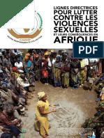 CADHP Lignes directrices pour lutter contre les violences sexuelles et leurs consequences en Afrique