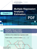 3 Multiple Regression Analysis Estimation