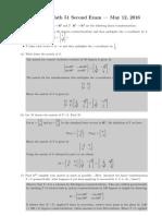 mathematics 16spr-m2sols