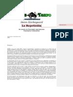 S.KIERKEGAARD - La Repetición