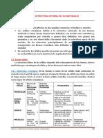 Tema 3. Estructura Interna de Los Materiales