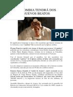 Colombia Tendrá Dos Nuevos Beatos