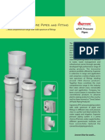8 UPVc Pressure Pipes and Fittings