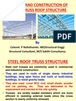 Design of Steel Truss Roof Structure